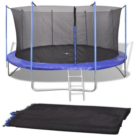 Hommoo Safety Net PE Black for 3.66 m Round Trampoline VD04291