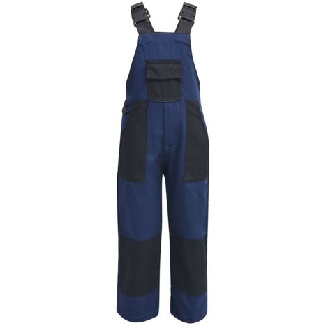 Hommoo Salopette à bavette pour enfants Taille 122 / 128 Bleu