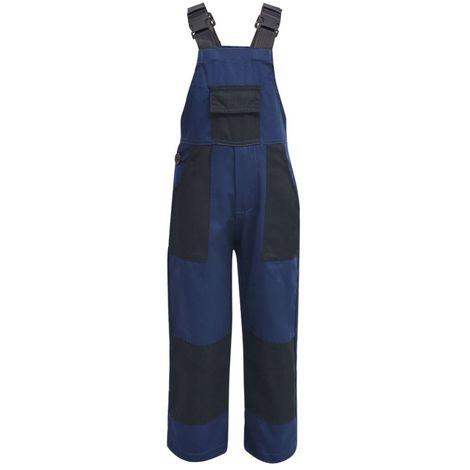 Hommoo Salopette à bavette pour enfants Taille 146 / 152 Bleu