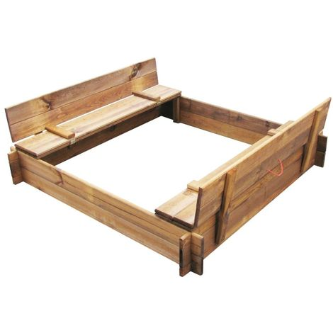 Hommoo Sandbox FSC Impregnated Wood Square VD26663