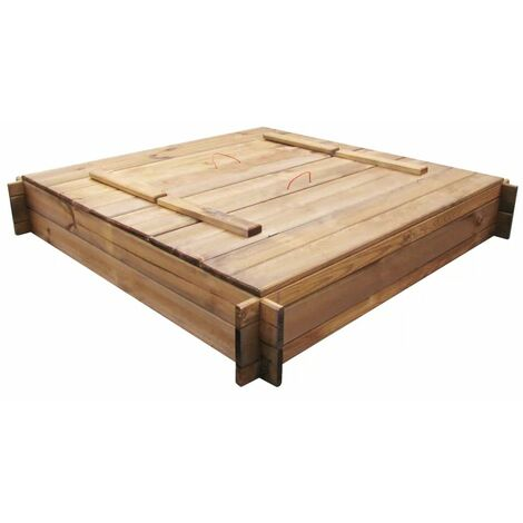 Hommoo Sandbox Impregnated Wood Square QAH26663