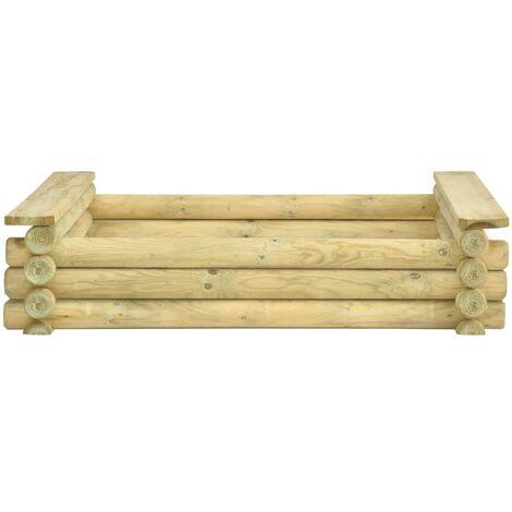 Hommoo Sandpit 120x120x27 cm Impregnated pinewood QAH46949