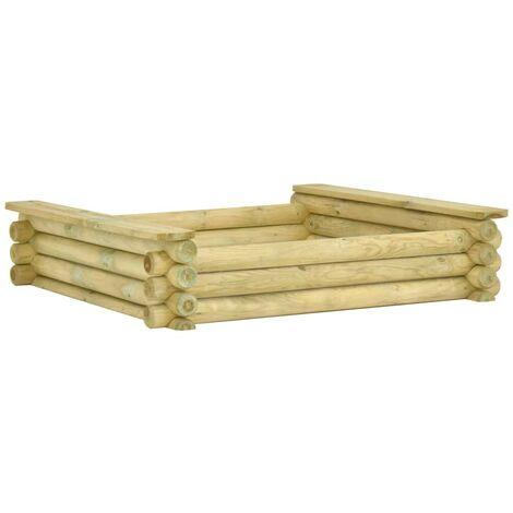 Hommoo Sandpit 120x120x27 cm Impregnated pinewood VD46949