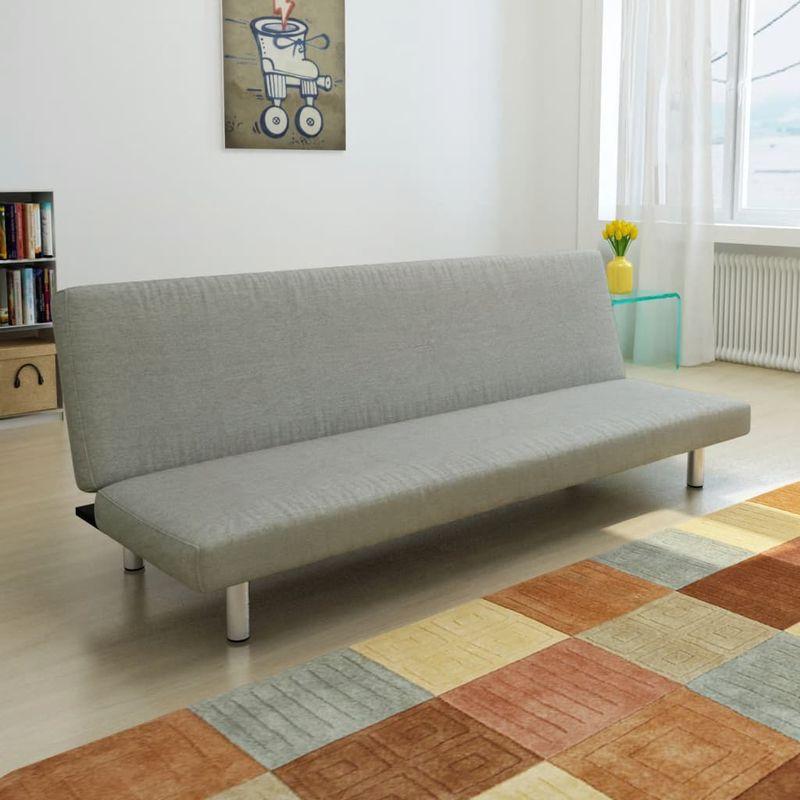 Schlafsofa Grau Polyester VD08891 - Hommoo