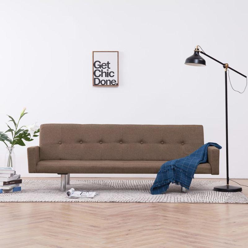Schlafsofa mit Armlehnen Braun Polyester VD23505 - Hommoo