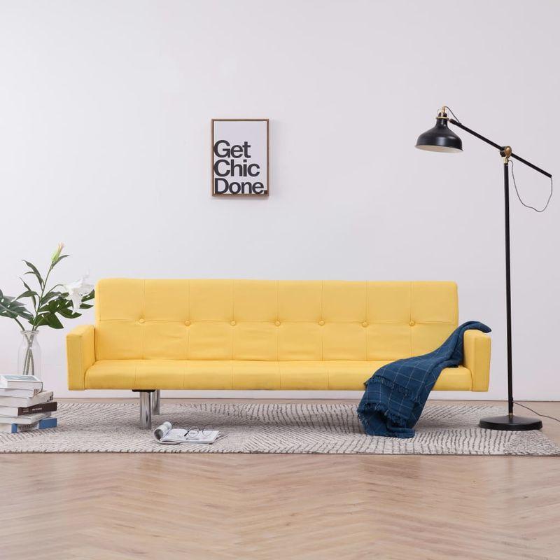 Schlafsofa mit Armlehnen Gelb Polyester VD23509 - Hommoo