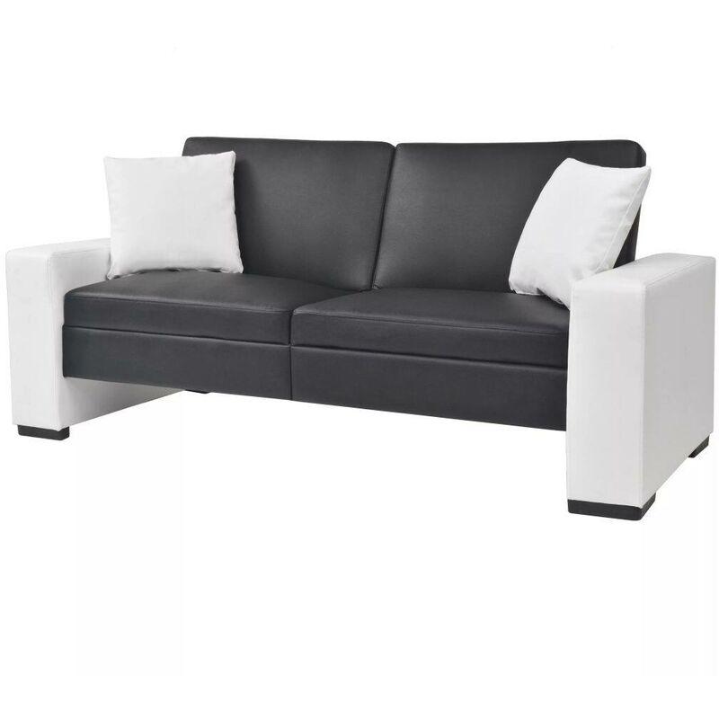 Schlafsofa mit Armlehnen PVC Schwarz Verstellbar VD11010 - Hommoo