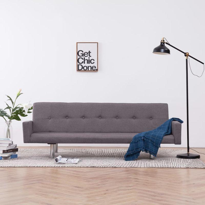 Schlafsofa mit Armlehnen Taupe Polyester VD23511 - Hommoo