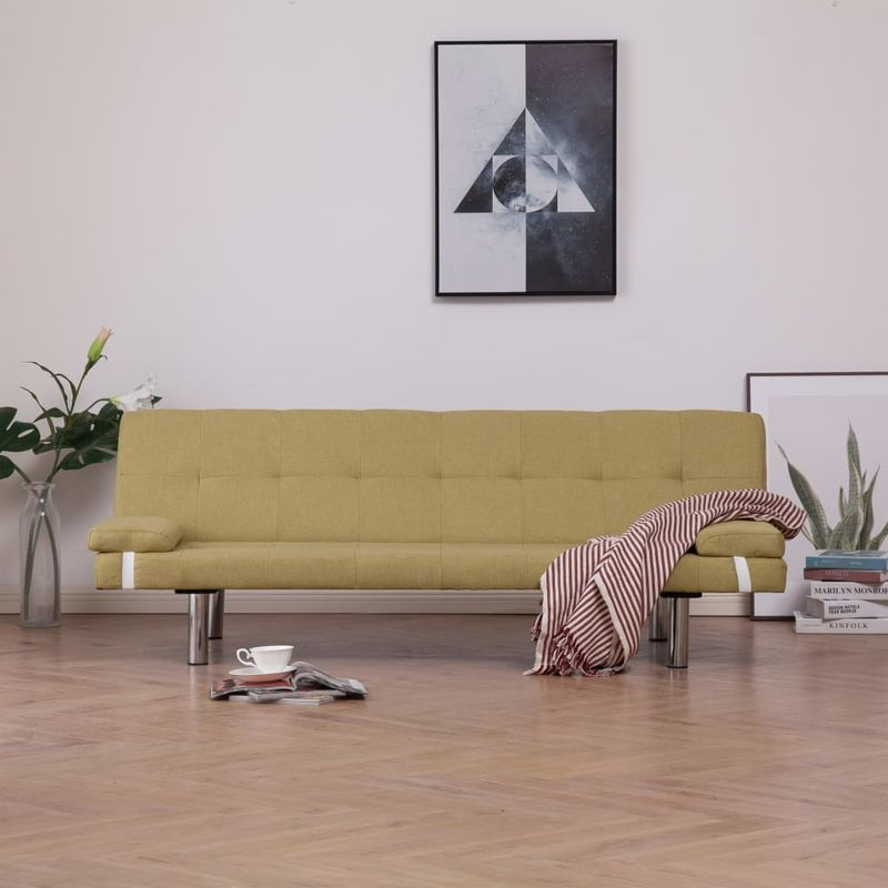 Schlafsofa mit zwei Kissen Grün Polyester VD23473 - Hommoo