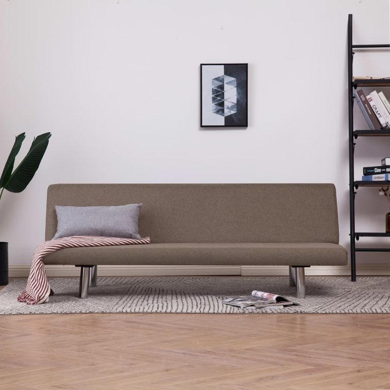 Schlafsofa Taupe Polyester VD23486 - Hommoo