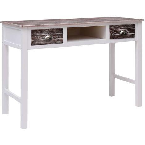 Hommoo Schreibtisch Braun 110 x 45 x 76 cm Holz VD24695