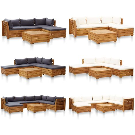 Hommoo Sectional Table 1 pc Solid Acacia Wood QAH45629