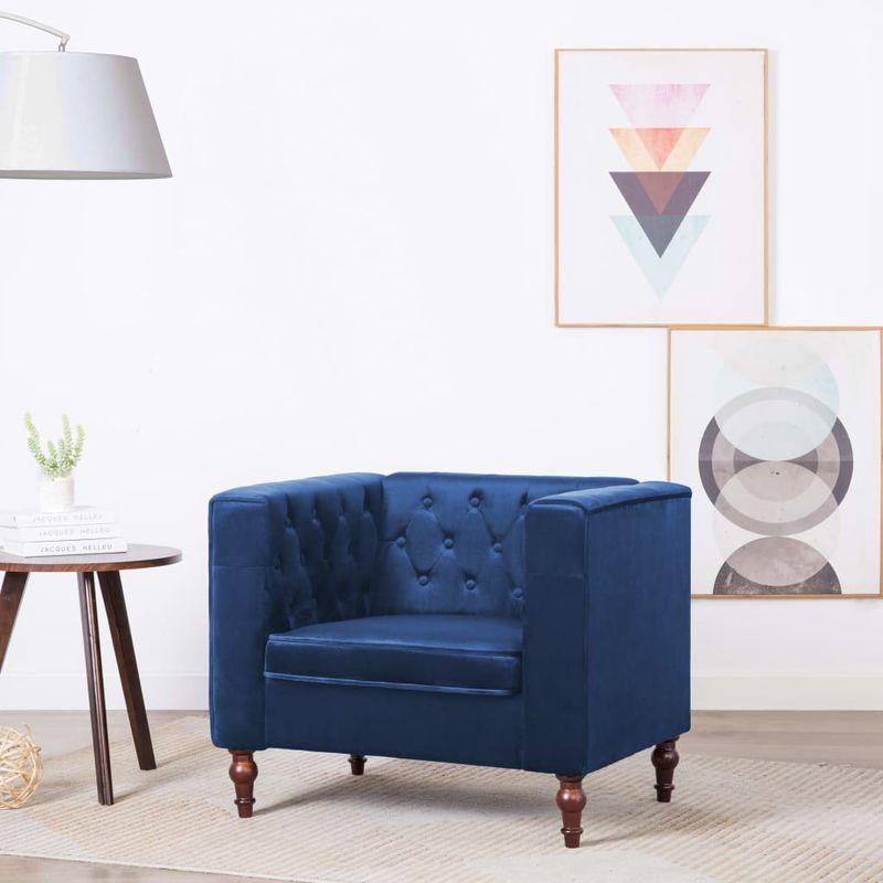 Sessel Blau Samt VD12928 - Hommoo