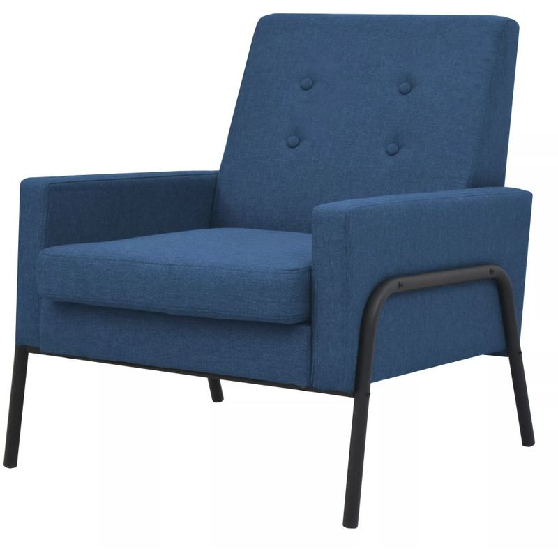 Sessel Blau Stahl und Stoff VD11509 - Hommoo