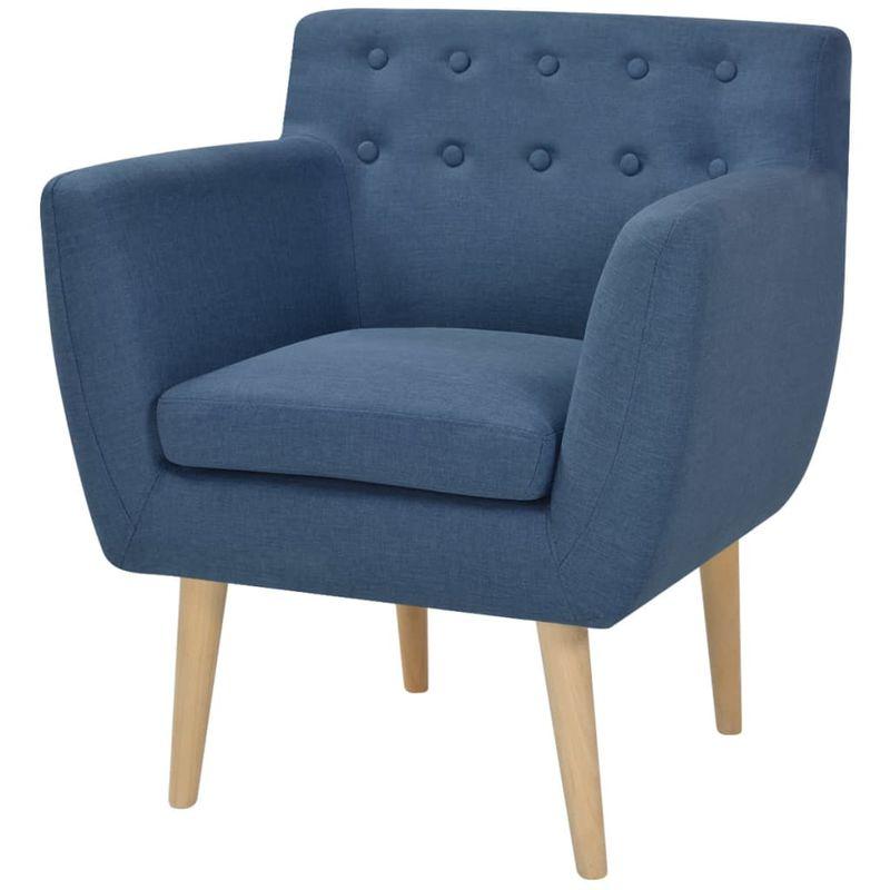 Sessel Blau Stoff VD10280 - Hommoo