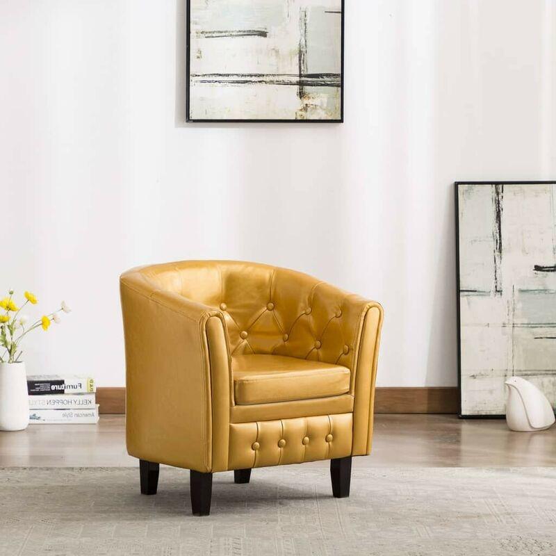 Sessel Golden Kunstleder VD35716 - Hommoo
