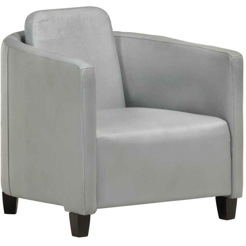 Hommoo Sessel Grau Echtleder VD36262