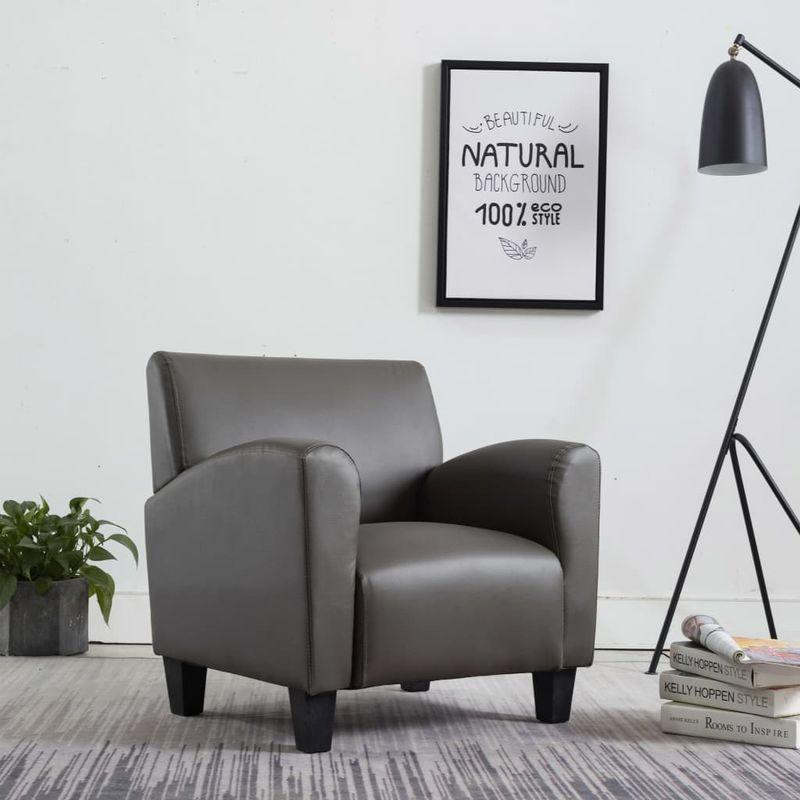 Hommoo Sessel Grau Kunstleder VD14154