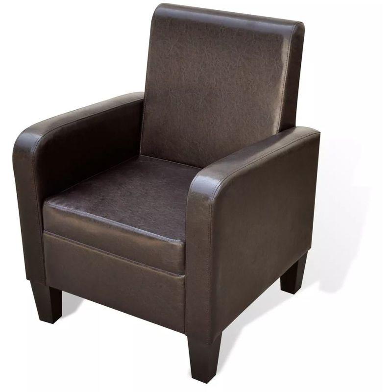 Sessel Kunstleder Braun VD08544 - Hommoo