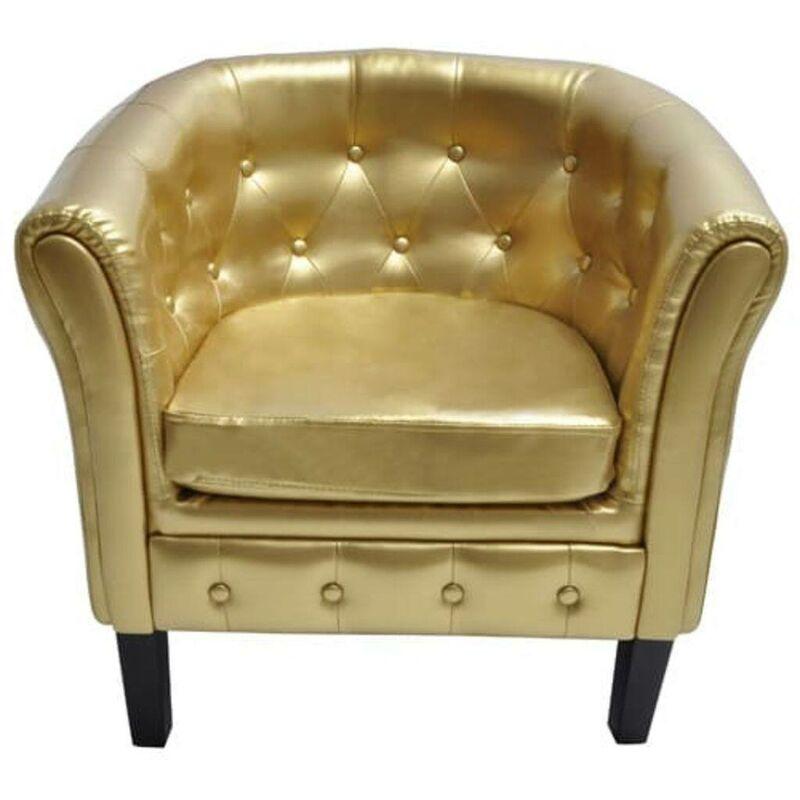 Sessel Kunstleder Golden VD30964 - Hommoo