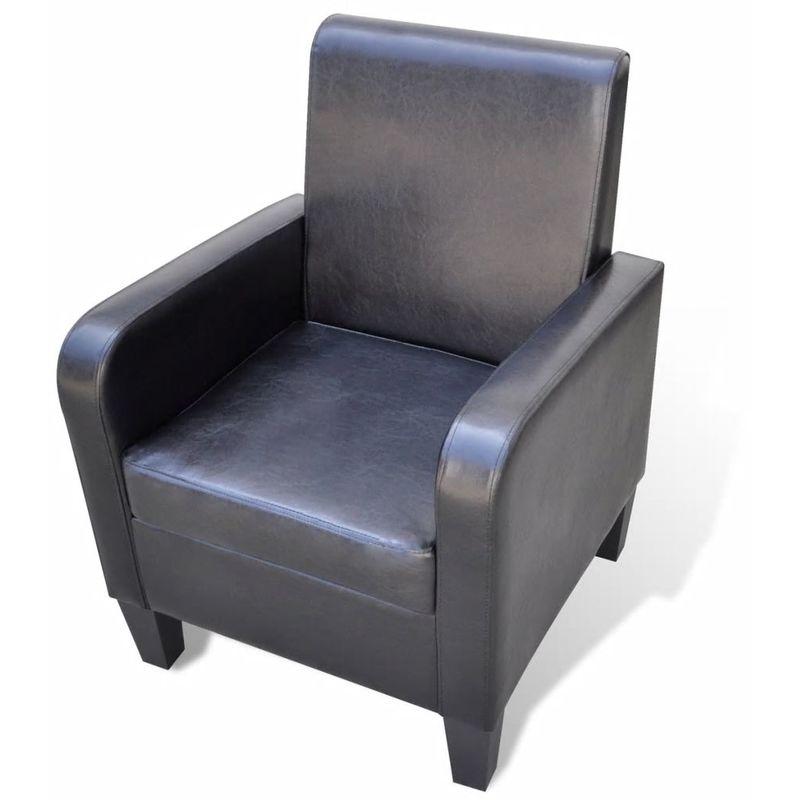 Sessel Kunstleder Schwarz VD08545 - Hommoo