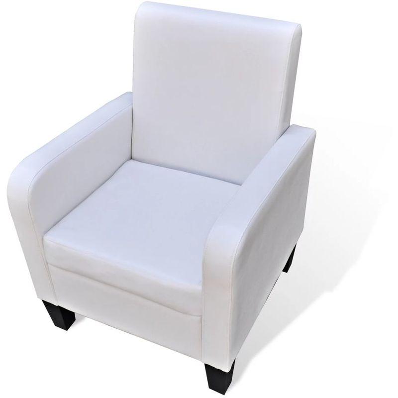 Sessel Kunstleder Weiß VD08546 - Hommoo