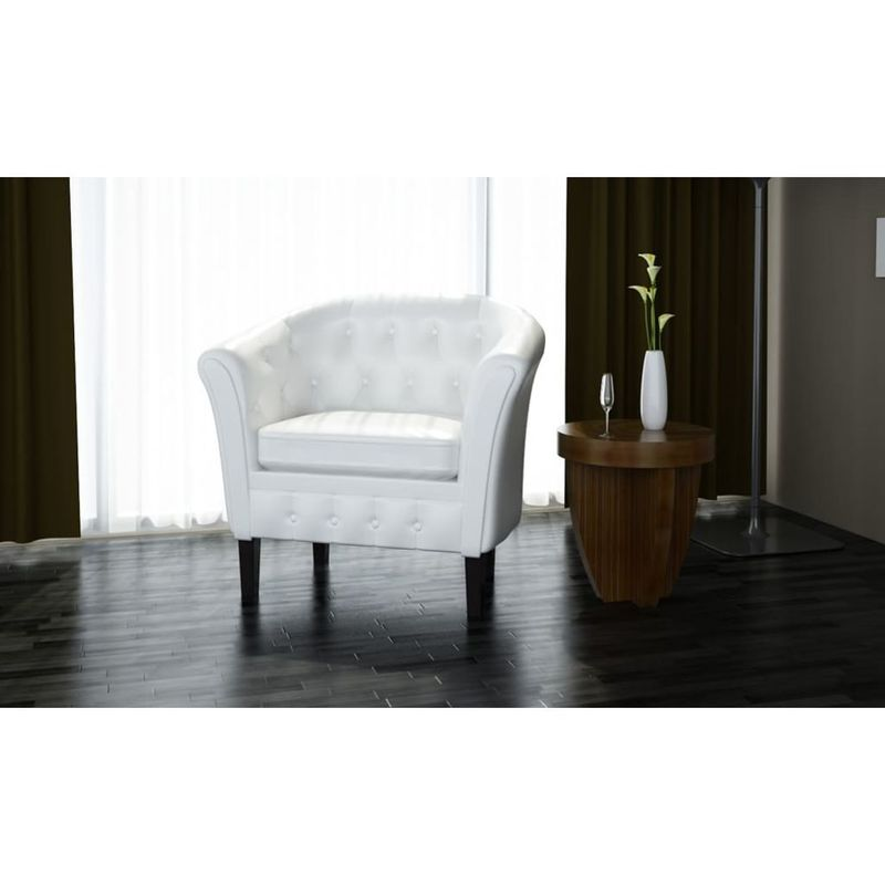 Sessel Kunstleder Weiß VD30962 - Hommoo