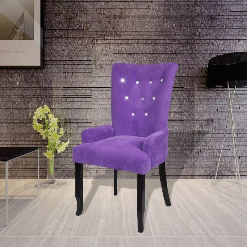 Sessel mit Holzrahmen Samt Lila VD08334 - Hommoo