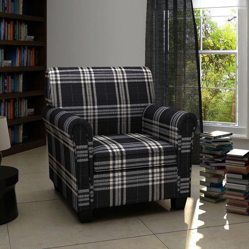 Hommoo Sessel mit Sitzpolster Stoff Schwarz VD08467