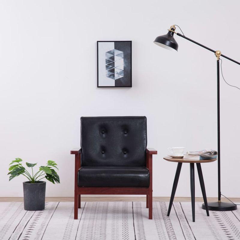 Hommoo Sessel Schwarz Kunstleder VD14176