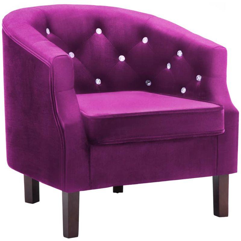 Sessel Violett Samt VD12925 - Hommoo