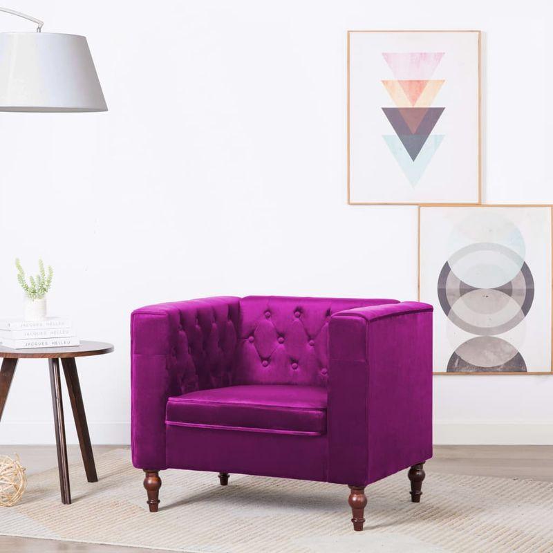 Hommoo Sessel Violett Samt VD12930