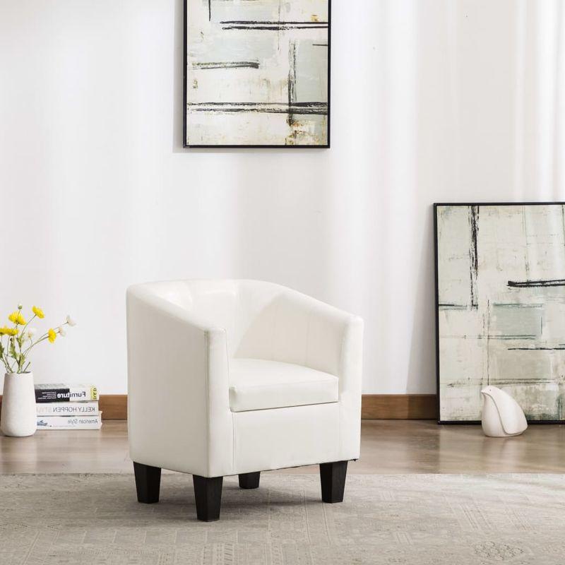 Sessel Weiß Kunstleder VD13893 - Hommoo