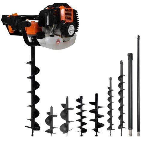 Hommoo Set de ahoyadora con barrena perforadora de suelo de acero HAXD21759