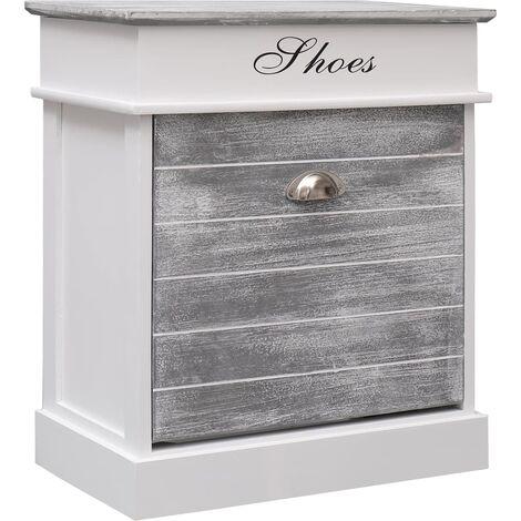 Hommoo Shoe Cabinet Grey 50x28x58 cm Paulownia Wood QAH24622