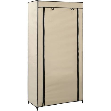 Hommoo Shoe Cabinet with Cover Cream 58x28x106 cm Fabric VD23542
