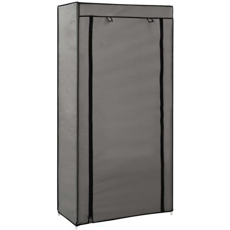 Hommoo Shoe Cabinet with Cover Grey 58x28x106 cm Fabric