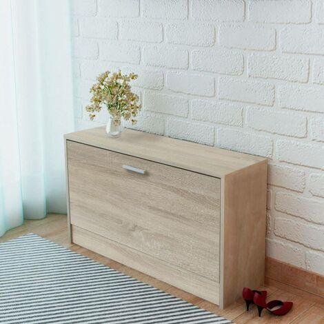 Hommoo Shoe Storage Bench Oak 80x24x45 cm