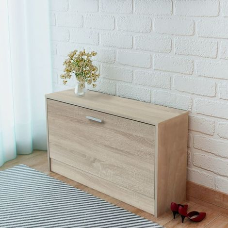 Hommoo Shoe Storage Bench Oak 80x24x45 cm VD09615