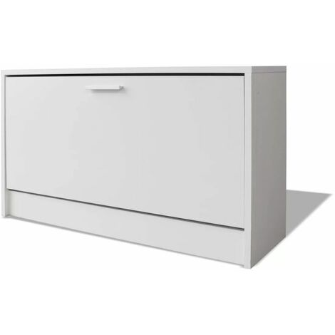 Hommoo Shoe Storage Bench White 80x24x45 cm QAH09616
