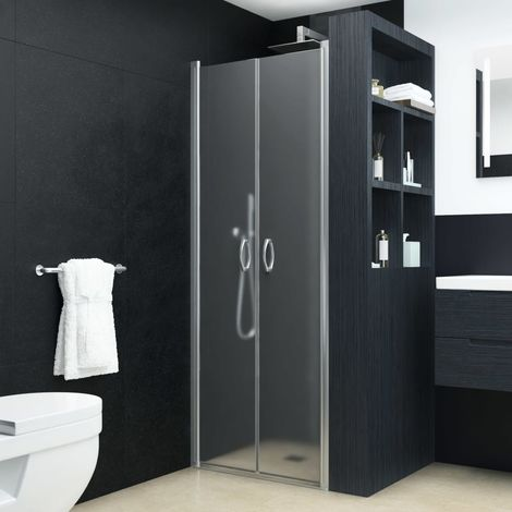 Hommoo Shower Doors Frosted ESG 75x185 cm
