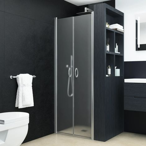 Hommoo Shower Doors Frosted ESG 90x180 cm