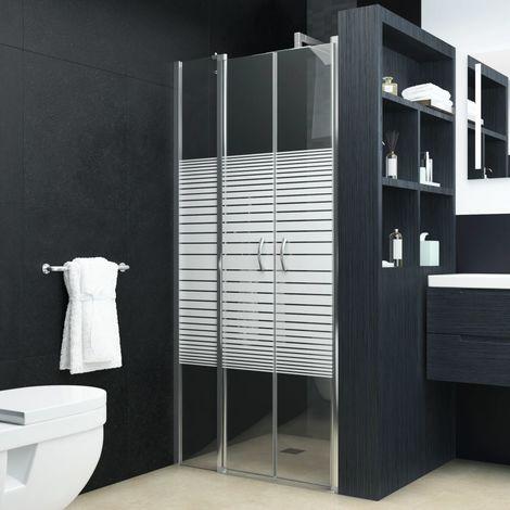 Hommoo Shower Doors Half Frosted ESG 100x185 cm