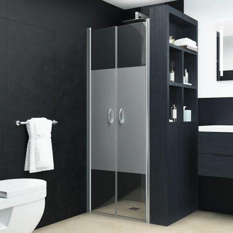 Hommoo Shower Doors Half Frosted ESG 75x185 cm