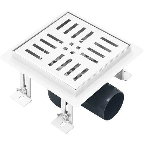 Hommoo Shower Drain Checker 12x12 cm Stainless Steel VD35419