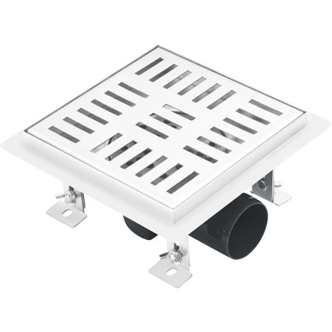 Hommoo Shower Drain Checker 15x15 cm Stainless Steel VD35420