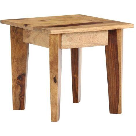 Hommoo Side Table 43x43x40 cm Solid Sheesham Wood