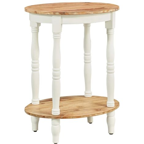 Hommoo Side Table 50x40x66 cm Solid Acacia Wood
