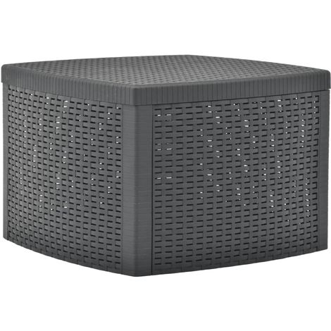 Hommoo Side Table Anthracite 54x54x36.5 cm Plastic