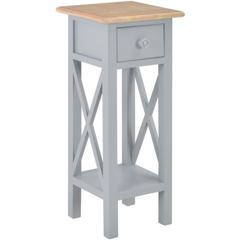 Hommoo Side Table Grey 27x27x65.5 cm Wood